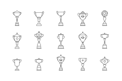 Trophy winner cup icon flat vector icon. Prize flat vector icon