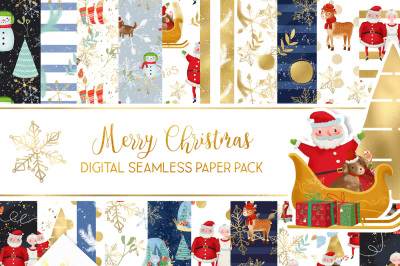 Christmas seamless pattern with Santa