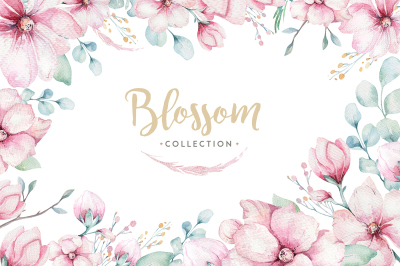 Spring blossom collection