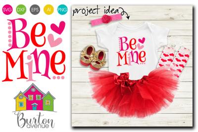 Be Mine Valentine SVG File