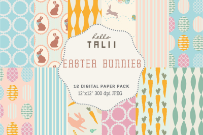 EASTER BUNNIES DIGITAL PAPER