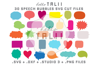 SPEECH BUBBLES SVG CUT FILES BUNDLE