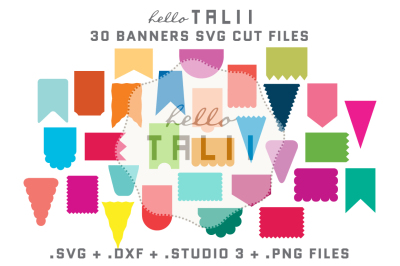 BANNERS SVG CUT FILES BUNDLE