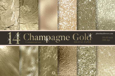 Champagne Gold Digital Paper