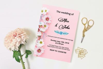 Wedding Invitation Template-v13