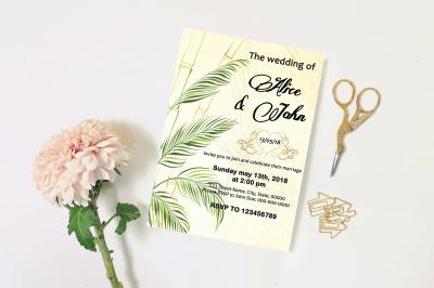 Wedding Invitation Template-v14