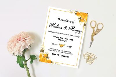 Wedding Invitation Template-v16