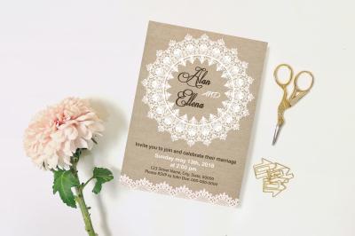 Wedding Invitation Template-v17