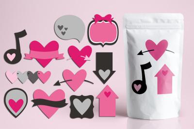 Valentine Pink Grey