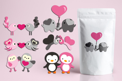 Valentine Animals in pairs
