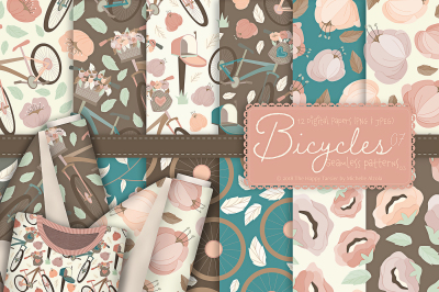 Bicycles 07 - Seamless Patterns & Digital Papers 03