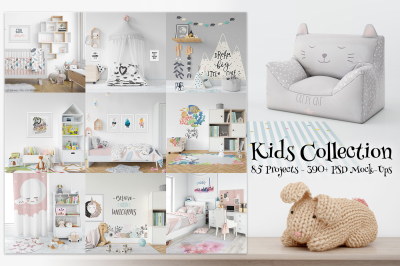 Kids Collection - 85 Kids Mockup Bundle