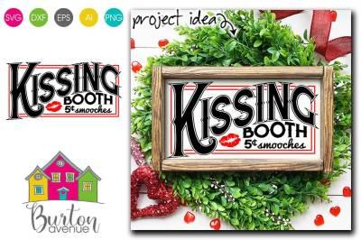 Kissing Both Valentine SVG File