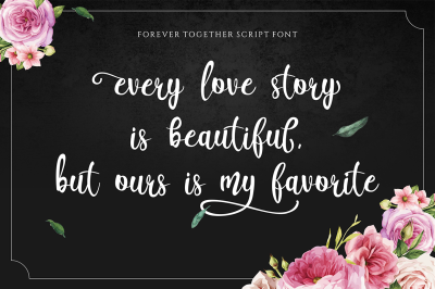 Forever Together // Romantic Font Duo