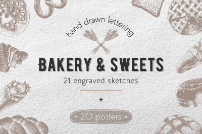 Bakery sketches and lettering
