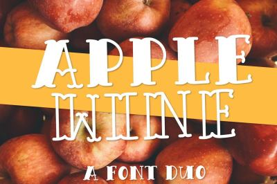 Apple Wine - A Outlined & Filled Font Duo
