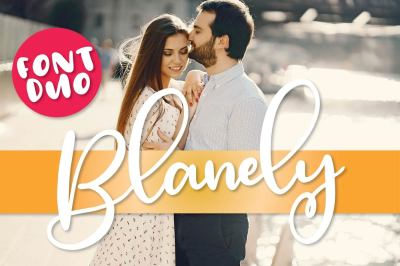 Blanely - A Script & Print Font Duo