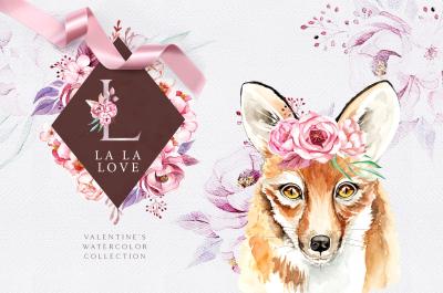 La La Love. Watercolor set
