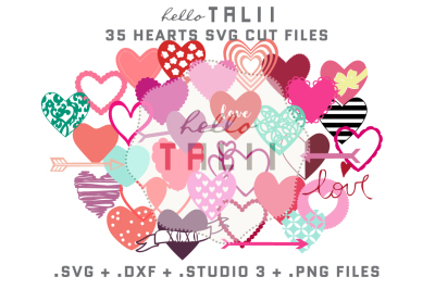 HEARTS SVG CUT FILES BUNDLE
