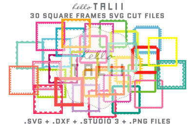 SQUARE FRAMES SVG CUT FILES BUNDLE