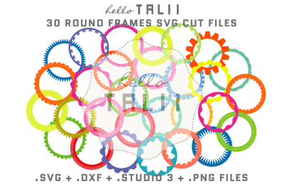 ROUND FRAMES SVG CUT FILES BUNDLE