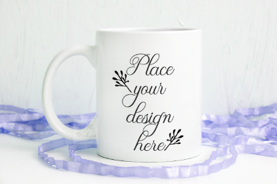 Mug mock up Sublimation spring easter white coffee cup mock up