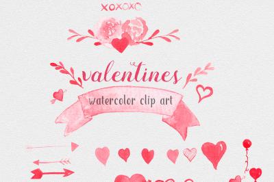 Valentine Watercolor Set