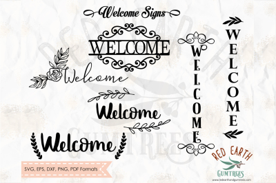 Welcome sign decal bundle, welcome home in SVG,DXF,PNG,EPS,PDF