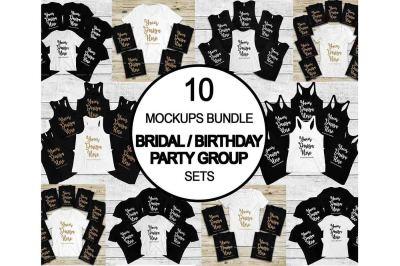 Bachelorette Group Bride Squad Mockup Bundle, Bridesmaid Bridal Party