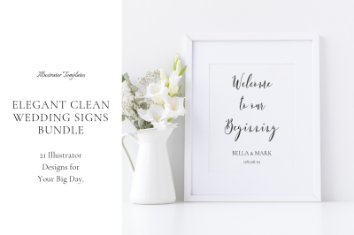 Elegant Clean Wedding Signs