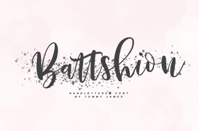 Battshion - Handletterd font