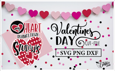 Valentines Cut-File Teacher SVG Holiday File