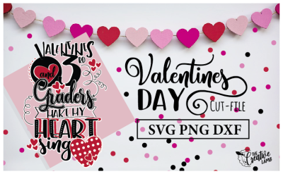 Valentine Cut-File Teacher SVG Holiday File