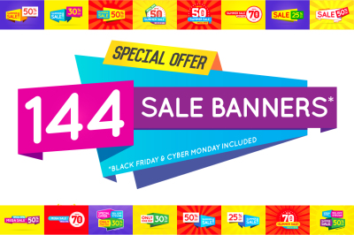 144 Awesome Sale Banners (+BF & CM)