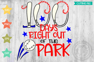 Boy Baseball SVG, 100th Day of School SVG, 100 Days Svg Cut File
