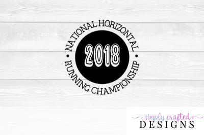 Pitch Perfect Horizontal Running Championship SVG Cutting File