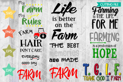 Farm Sayings Bundle svg