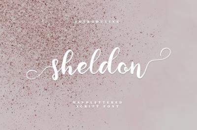 sheldon - script font