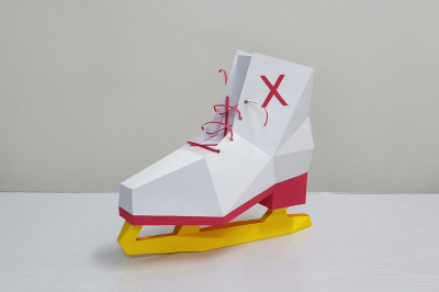 DIY Ice Skating Shoe - 3d papercraft