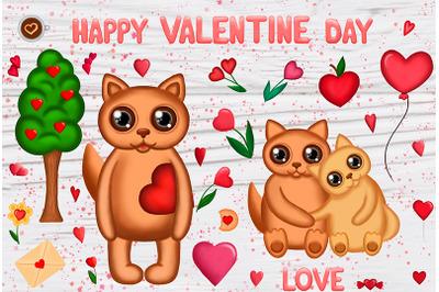 Valentine`s cat