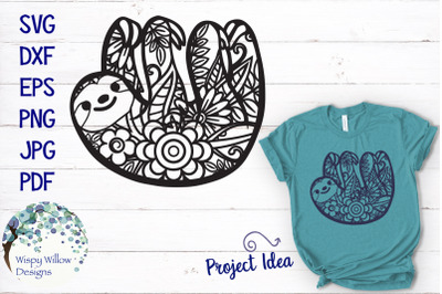 Sloth Zentangle SVG
