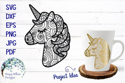 Unicorn Zentangle SVG