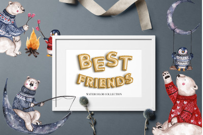 Best Friends Watercolor Collection