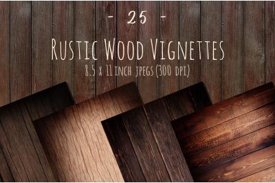 Rustic wood vignette background