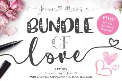 Valentine's Font Bundle + Extras!
