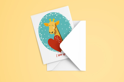 8 Valentine's Day cards with animals
