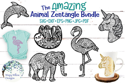 The Amazing Animal Zentangle SVG Bundle