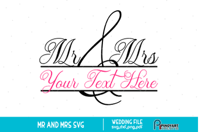 Mr and Mrs svg, Mr and Mrs Clip Art, Wedding svg