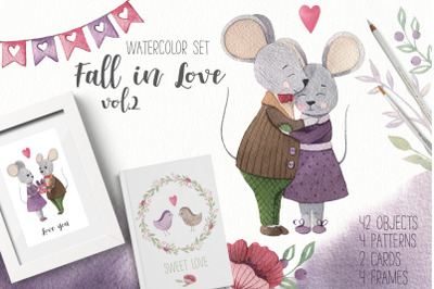 Fall in love vol.2  - Watercolor set