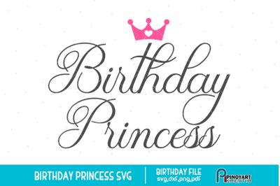 Birthday Princess svg, Birthday svg, Princess svg